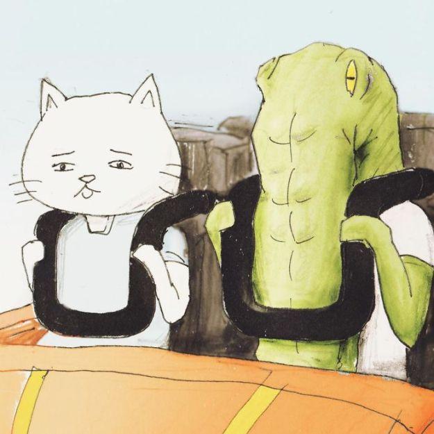 crocodile-life-animals-illustrations-keigo-japan-34-5b7a7d1f53b98__700 20+ Problems Of A Crocodile Hilariously Illustrated By Japanese Artist Keigo Design Random