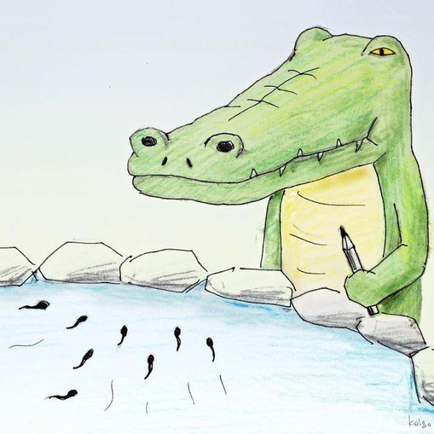 crocodile-life-animals-illustrations-keigo-japan-6-5b7a7ccf5dbd8__700 20+ Problems Of A Crocodile Hilariously Illustrated By Japanese Artist Keigo Design Random
