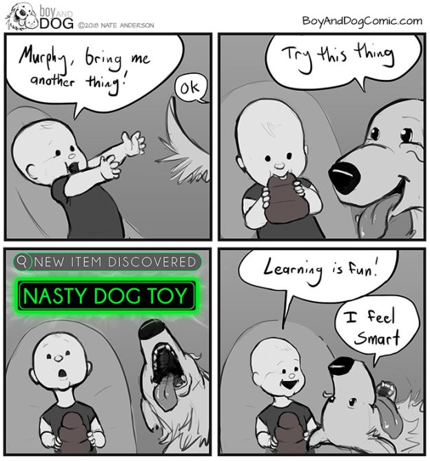 funny-baby-boy-dog-comics-nate-anderson-16-5b71760674862__700 Father Illustrates The Friendship Between His Tiny Baby And Giant Dog And The Comics Are Adorable Design Random