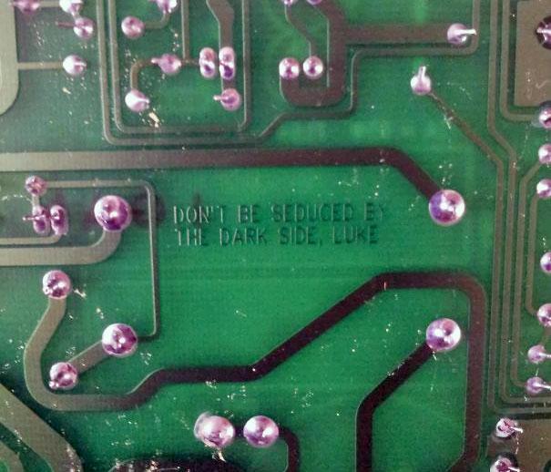A Hidden Message Underneath The Circuit Board