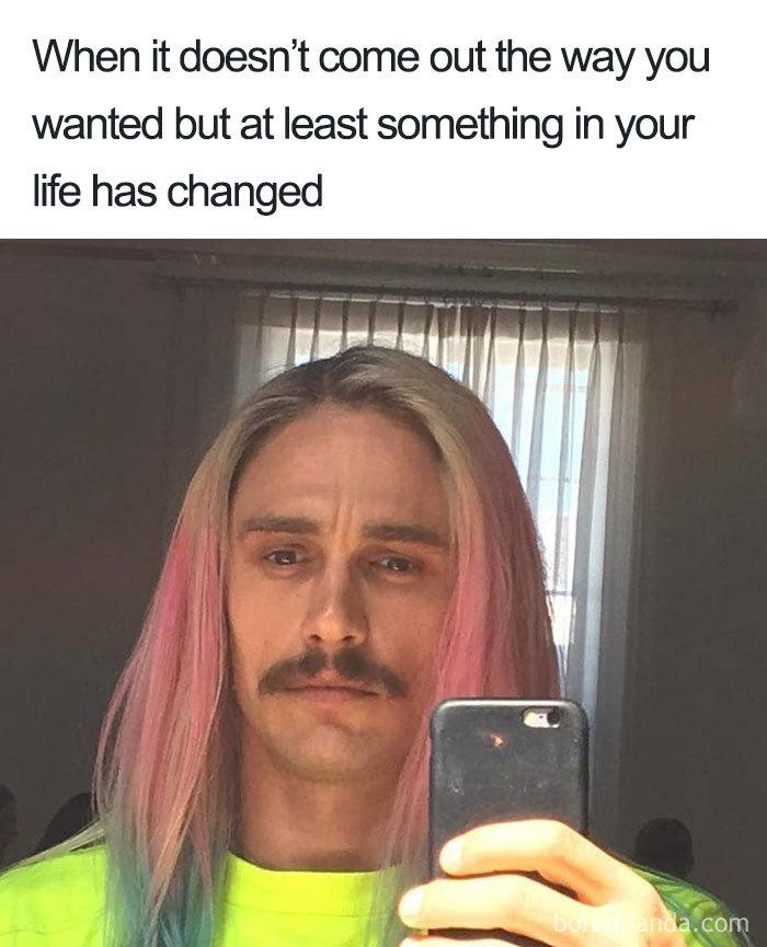 Long Hair Meme : Hilarious, Memes, Hairstylist, Bored, Panda
