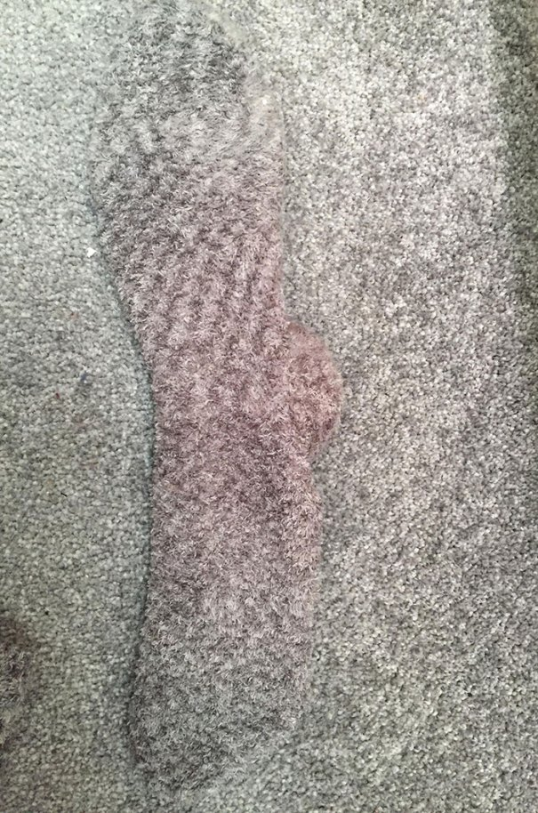 My Socks Blend In Perfectly With My Girlfriend's Carpet
