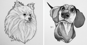 dog dogs drawing draw nose drawings challenged myself paintingvalley days