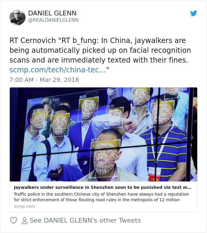 Jaywalkers bajo vigilancia en Shenzhen pronto a ser castigado a través de mensajes de texto