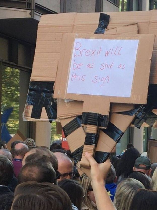1053637758370152448-png__700 25+ Of The Funniest Signs From The Anti-Brexit March Design Random