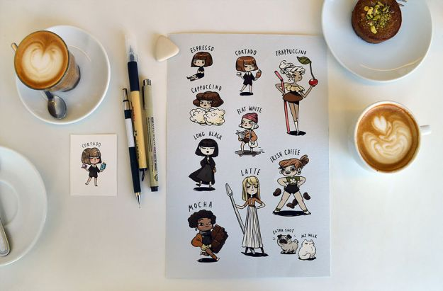 2-5bd71345999f3__880 Coffee Inspired Me To Illustrate These Cute Little Characters Design Random