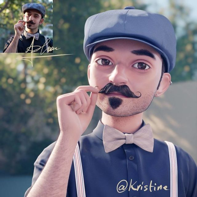 Artist Continues To Transform Strangers Into Pixar-Like Cartoons, And The Result Is Pretty Amazing