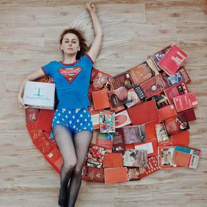 In Love With Books, esta mujer los usa para hacer verdaderas obras de arte
