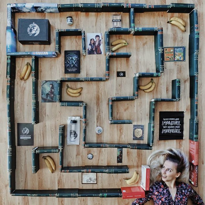 enamorada de los libros, esta mujer los usa para hacer verdaderas obras de arte