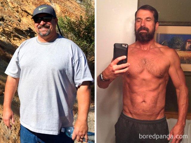 Perdí 47 kilos en 15 meses. Primero dejé de beber, despues cambié mi dieta. Finalmente pasé doce períodos creando ejercicio. Es factible cambiar