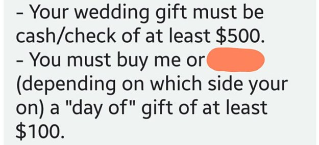 bride-requirements-bridal-party-battle-bridezilla-4-5bd6c4014e940__700 Sister Was So Horrified By This Bride's List Of Demands She Shared Them With The Internet Design Random