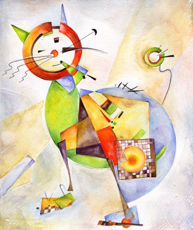 cat12_big-5bbc536fe55fe__700 I Challenged Myself To Paint 12 Cats In Different Art Styles Art Design Random