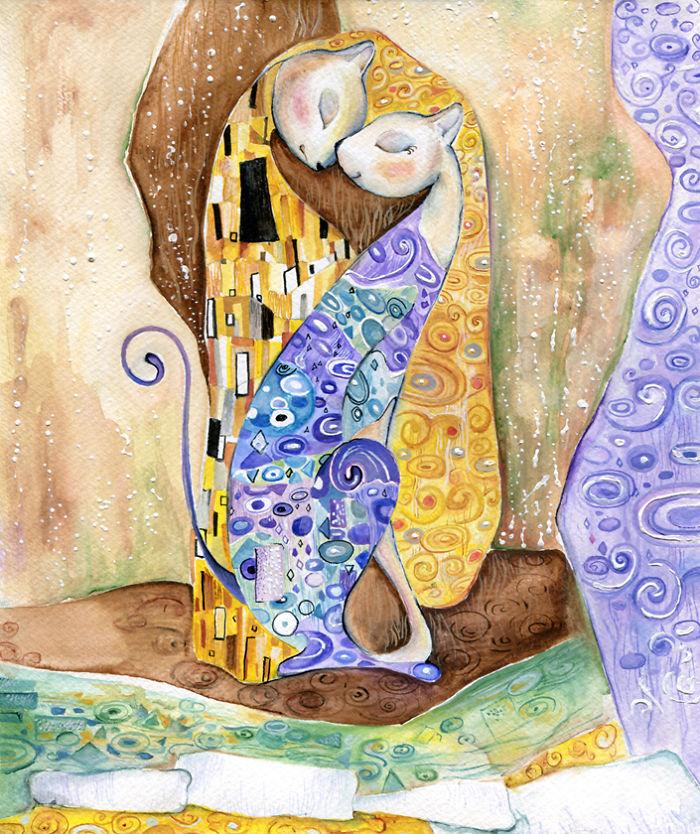 Inspirado por Gustav Klimt