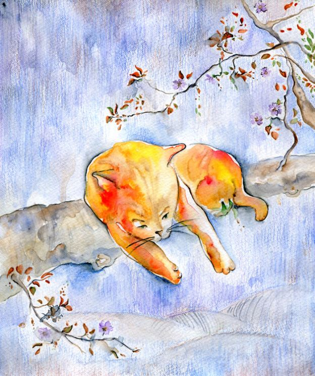 cat5_big-5bbc535deb630__700 I Challenged Myself To Paint 12 Cats In Different Art Styles Art Design Random