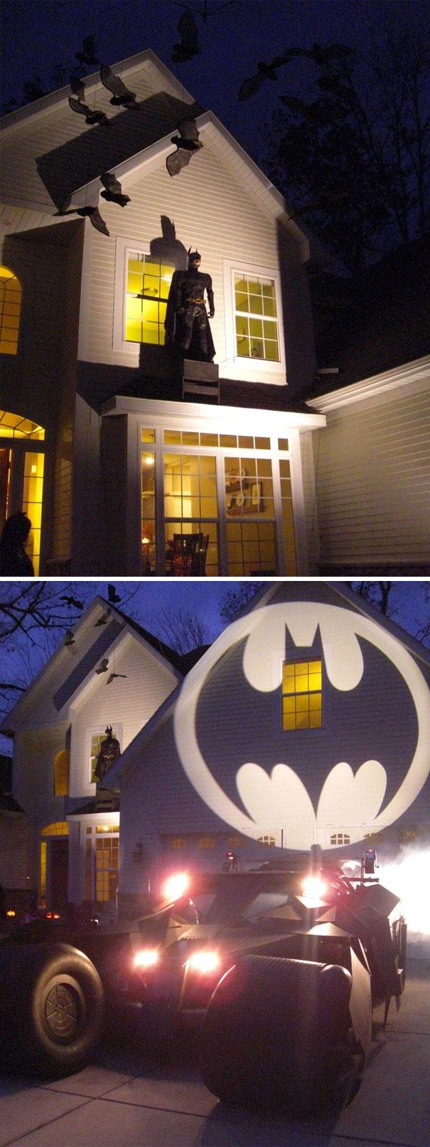 Batman Themed Halloween Display