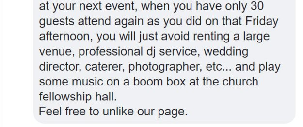 dissatisfied-bride-wedding-palnner-response-10-5bb3209c17779__700 Bride Posts Rude Comment About Event Planning Company So They Reveal All The Details Design Random