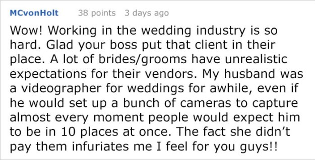 dissatisfied-bride-wedding-palnner-response-18-5bb320ab32242__700 Bride Posts Rude Comment About Event Planning Company So They Reveal All The Details Design Random