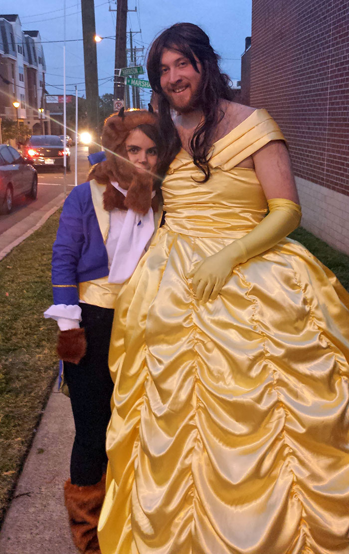 So My Boyfriend And I Were Beauty And The Beast For Halloween