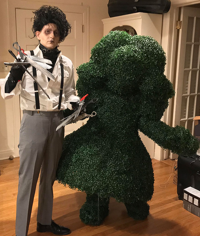 Edward Scissorhands And His Topiary Bush