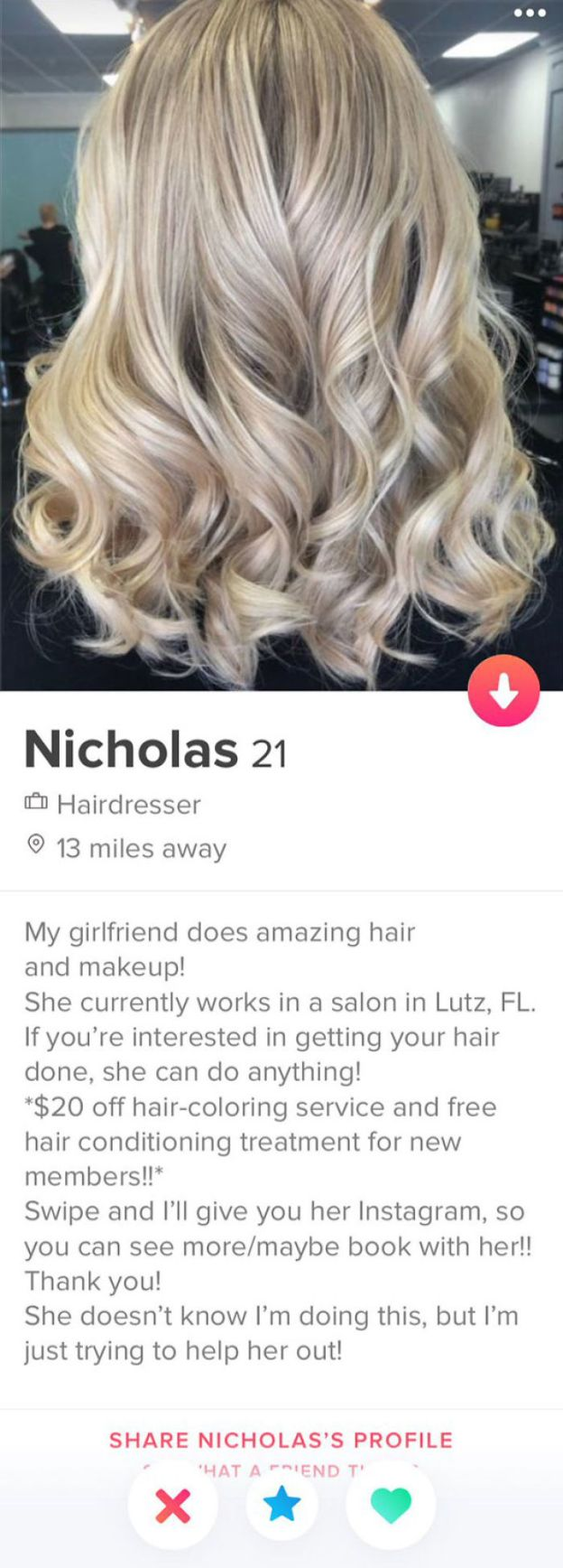 hilarious-tinder-bios-270-5bc886397a42f__700 20+ Funny Tinder Profiles That Will Make You Look Twice (New Pics) Design Random