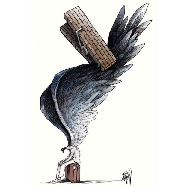 satire-political-cartoon-illustration-angel-boligan-2-5bd1ae989792d__700 What's Wrong With Today's Society Captured In 25+ Brutally Honest Illustrations By Angel Boligan Art Design Random
