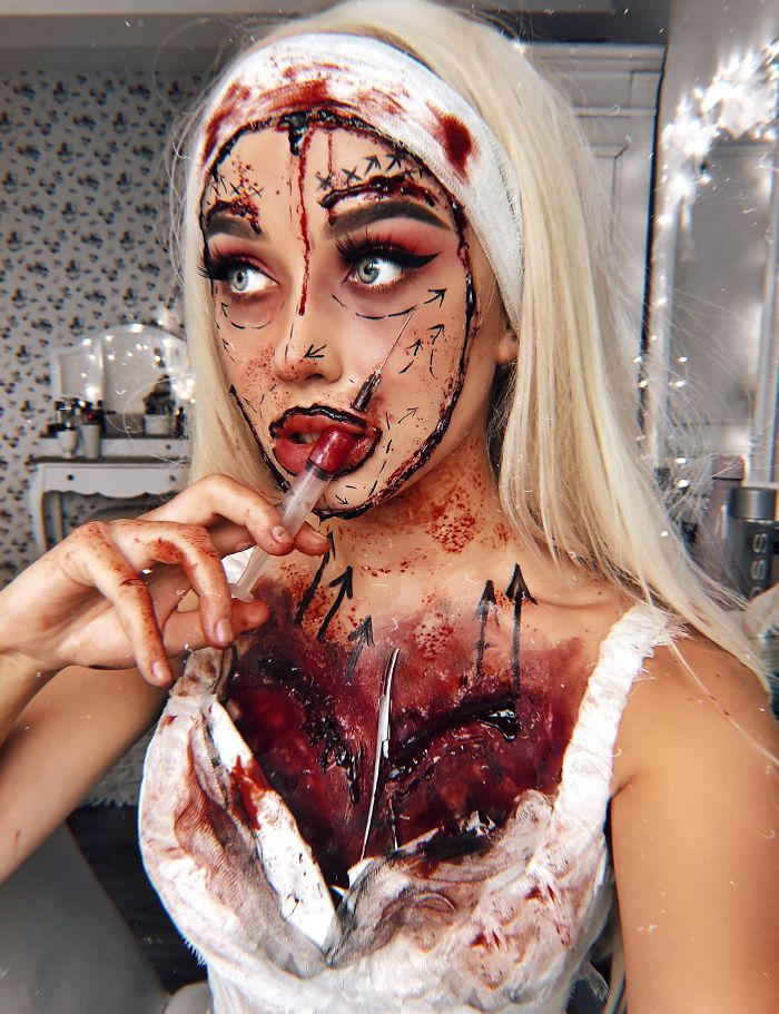 Me transformo con maquillaje de Halloween