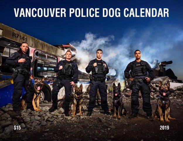 vancouver-police-department-charity-dog-calendar-2019-1-5bd16d905d42b__700 Vancouver Police Canine Unit Just Released Their 2019 Charity Calendar And It's Badass Design Random