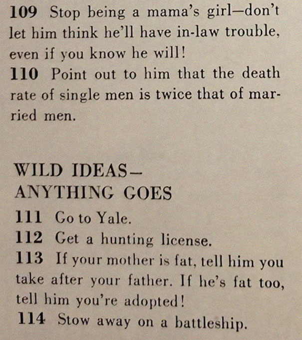 14image-5be14ed4db4c3__605 This '129 Ways to Get a Husband' Article From 1958 Shows How Much The World Has Changed Design entertainment Random