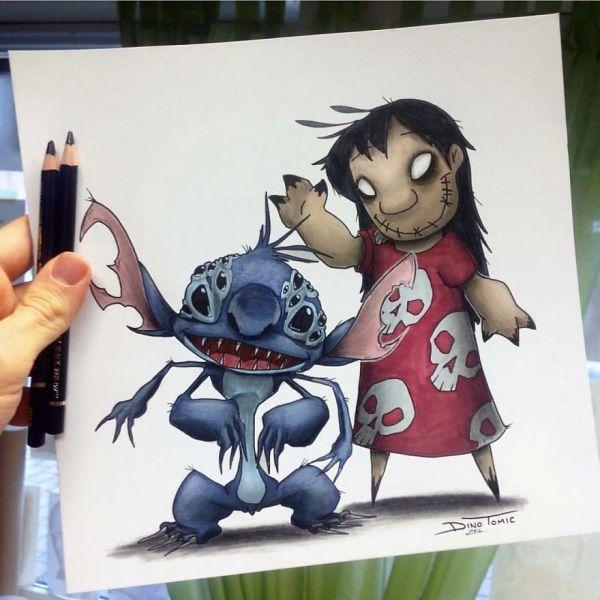 Artist Creepyfies 31 Of Favorite Cartoon Characters