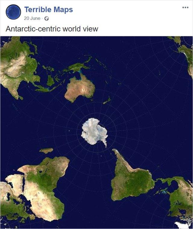 El planeta visto desde la Antártida
