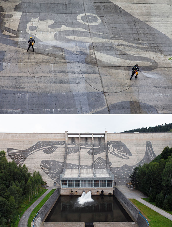 Powerwashed Dam In Eastern Germany