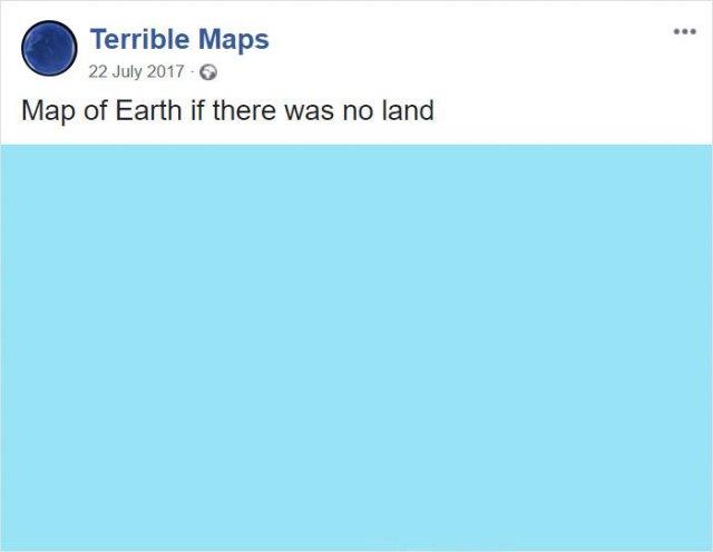 Mapa de la Tierra si no hubiera tierra