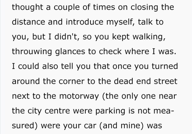 guy-follows-woman-writes-anonymous-letter-3-5bee7e91563db-png__700 Man Who Followed A Woman To Her Car Wrote An Anonymous Letter That'll Give You Chills Design Random