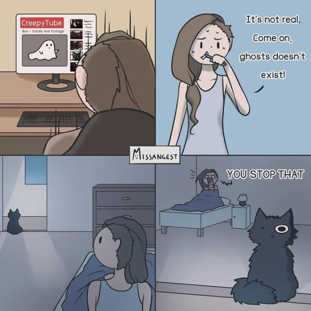 relatable-cat-comics-missangest-13-5be150b513356__700 12 Funny Comics Reveal The Reality Of Owning A Cat Design Random