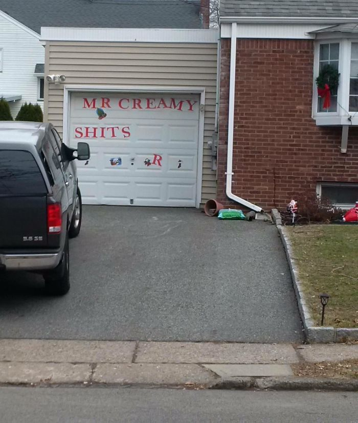 Those Crazy Kids Messing With The Neighbor's Merry Christmas Decoration