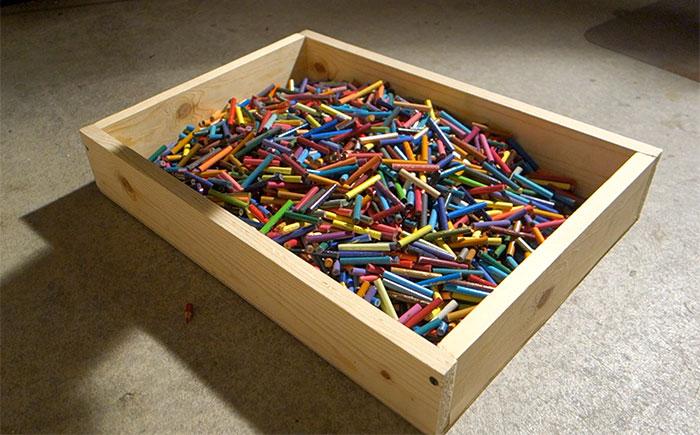 Colored Pencil Bowl For Sale