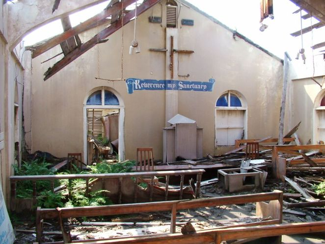 Inside The Destroyed Church