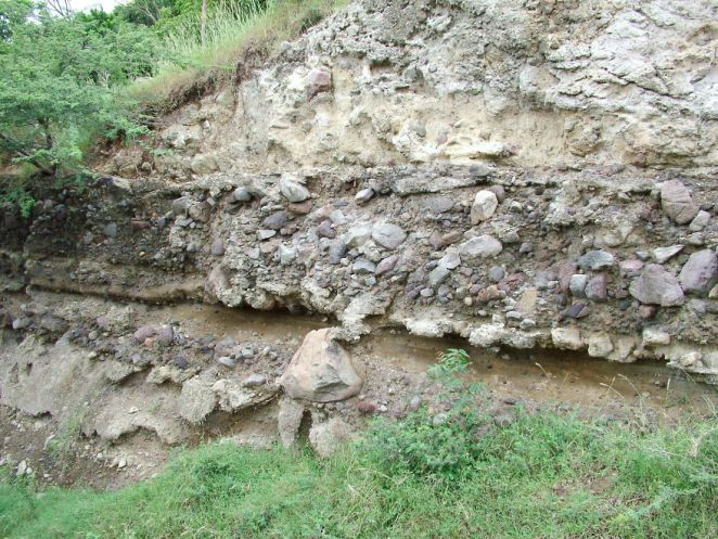 Record Of Pyroclastic Flows, Ash Falls And Lahars