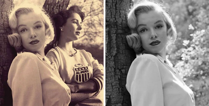 A Photo Of Marilyn Monroe And Elizabeth Taylor