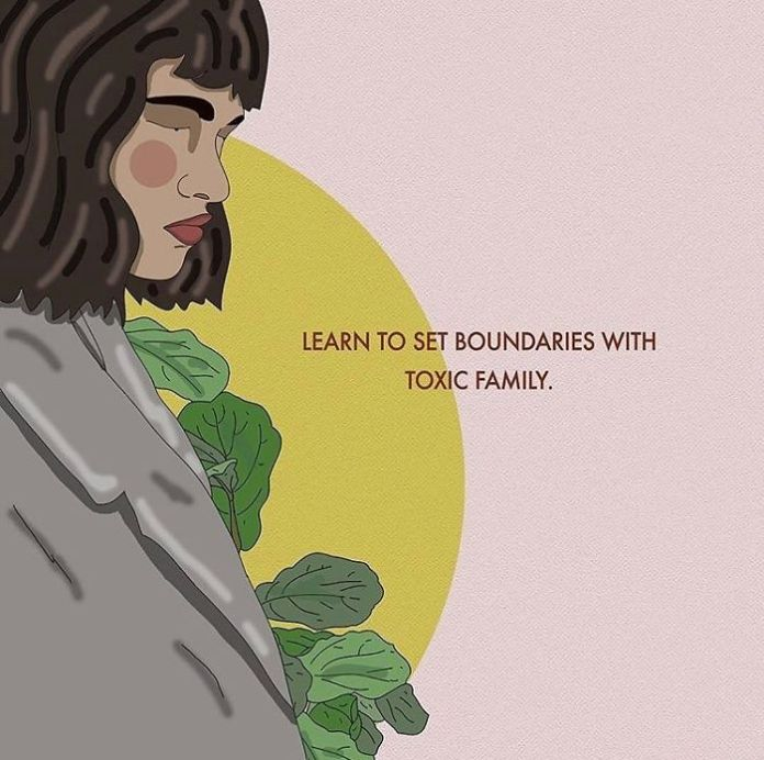 Not everyone's family is a source of love and support. Border setting can be very difficult, especially with family, but it is important to do to protect yourself. . . . . #recipesforselflove #boundaries #bodypositive #toxicfamily #protectyourenergy #selflove #selfcare #loveyourself #smashthepatriarchy #instagood #youareperfect #family #fuckthepatriarchy #effyourbeautystandards #feminism #lifestyle #quote #feminsta #feminist #zine #illustration #digital #drawing #adobe #design #graphic #art #instalove #love #yourself