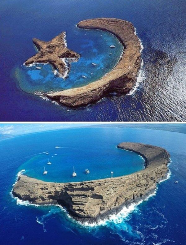 An Island That Looks Like A Star
