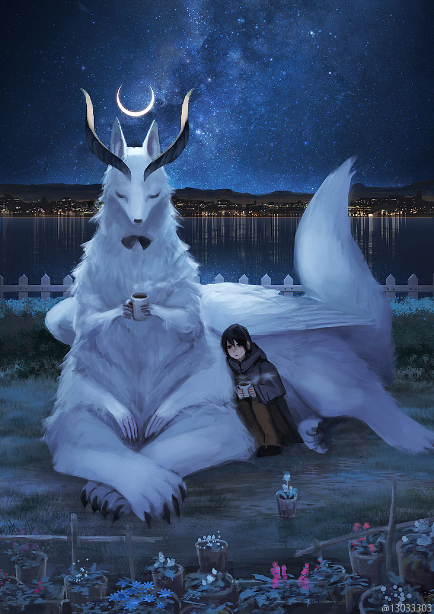 This Japanese Illustrator Gives Life To Giant Animals