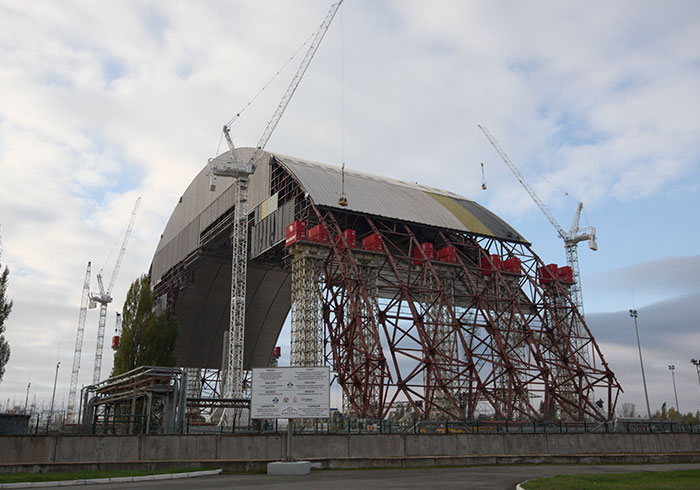 New Shelter For Chernobyl Nuclear Power Plant In Chernobyl, Ukraine