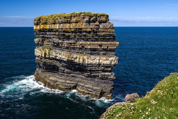 What Thousands Of Years Look Like In One Photo (Dun Briste Sea Stack, Downpatrick Head, Co. Mayo, Ireland)