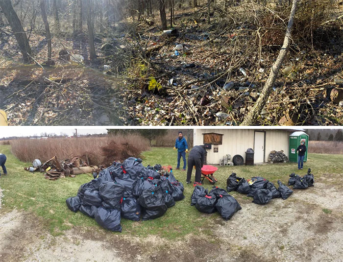 #trashtag My Eagle Scout Project From Last Year! Took A Whole Day With Nearly 20 People. Dayton, Oh, Usa