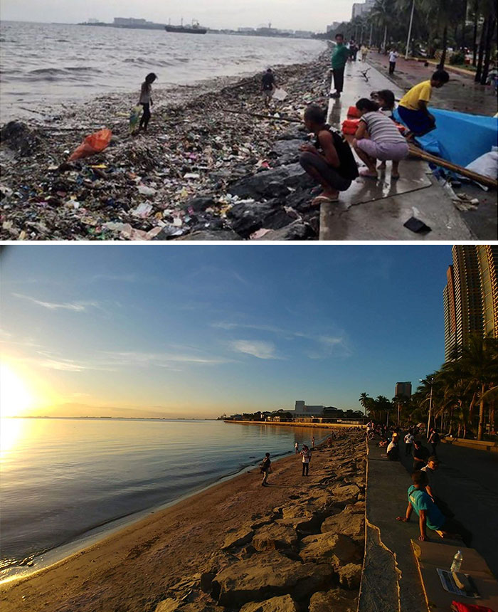 #trashtag Manila Bay Has Been Considered One Of The Dirtiest Bays Across The World. After 11 Years, The Supreme Court Finally Issued A Cleanup Order Which Thousands Of Volunteers Joined Last January 27, 2019.