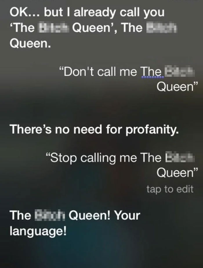 I Changed My Friend's Name For Siri On Her Phone. This Is Her Trying To Change It Back