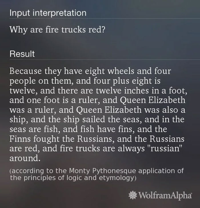 I Asked Siri Why Fire Trucks Are Red, I Had No Idea!