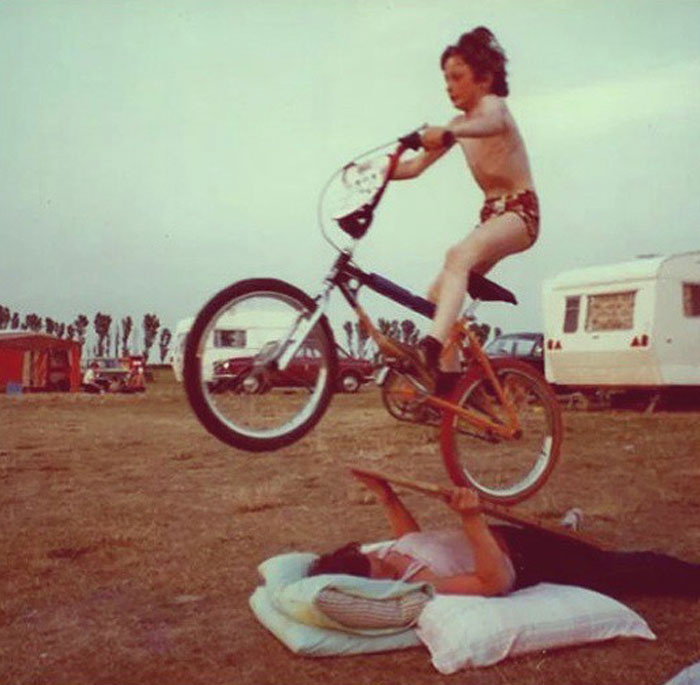 If Your Mum Didn't Lay On The Ground Making Herself Into A Ramp For Your New BMX, Did She Even Love You? 1980's