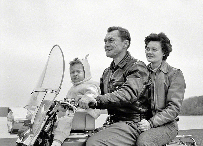 Harley With A Baby Seat, 1962